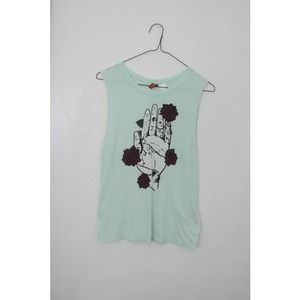 Graphic muscle tee.