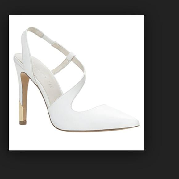 ALDO Shoes   White Asymmetrical Heels