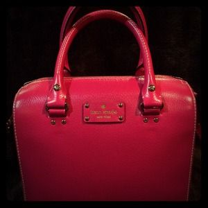 Kate Spade Wellesley Alessa Leather  pink satchel