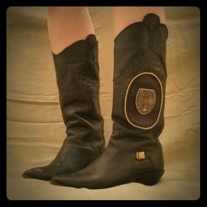 Genuine Leather cowgirl boots.