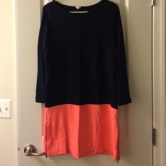 J. Crew Dresses - J Crew shift dress with zip detail.