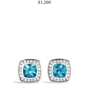 David Yurman Petite Albion Earrings in Blue Topaz
