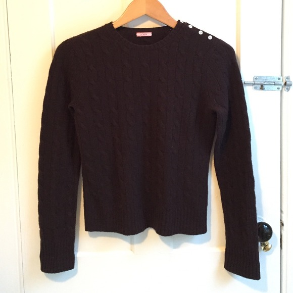 71% off J. Crew Sweaters - dark brown cashmere sweater from ...