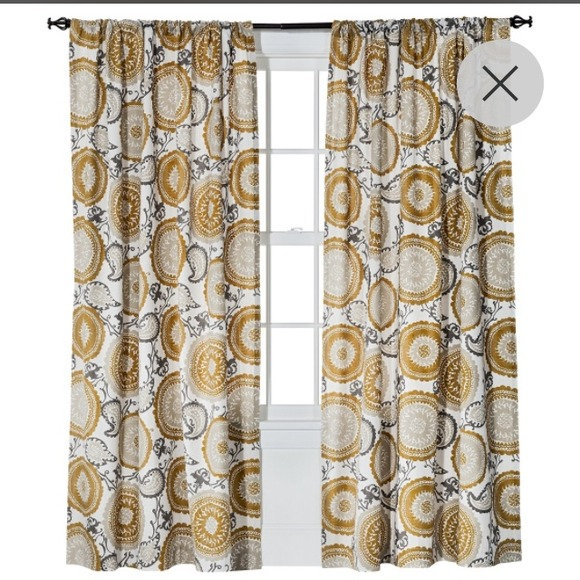 65% off threshold Other - Threshold Farrah Medallion Curtains from ...