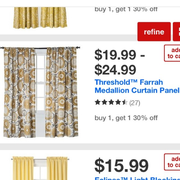 Threshold Other   Threshold Farrah Medallion Curtains From Target