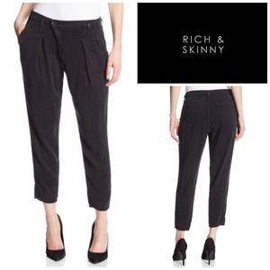 Rich & Skinny Pants - Rich & Skinny Black Crop Trousers