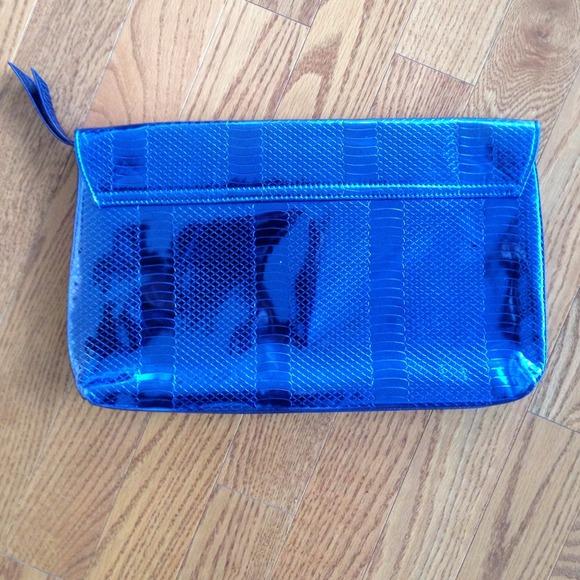 Bags - Metallic Blue Clutch