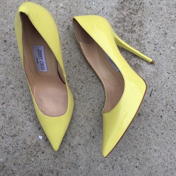 Jimmy Choo Abel Yellow Pointed Heels