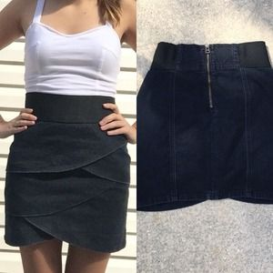 Dark tight layered skirt