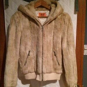 9f97fa3a44db Juicy Couture Jackets & Coats - Juicy Couture hooded faux fur jacket