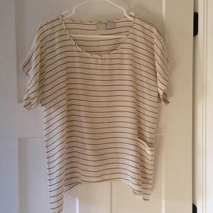 Anthropologie stripe silk blouse