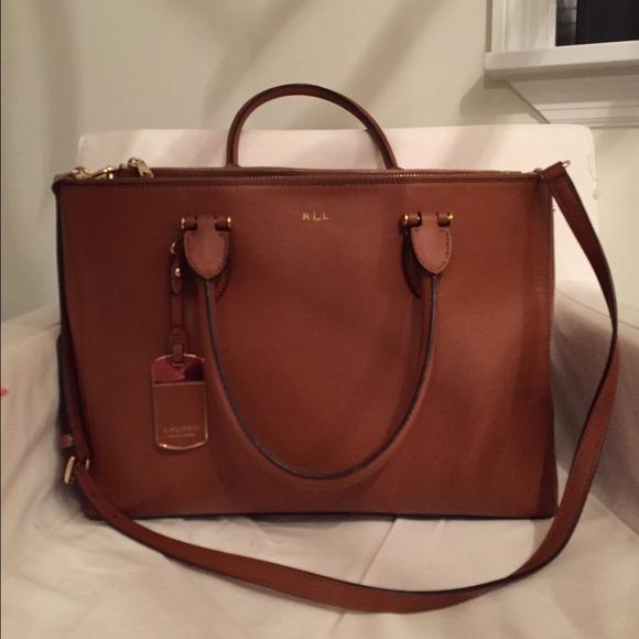 50094ecdf8 Ralph Lauren newbury double zip satchel. M 54c982c6bb27a47e80090b14