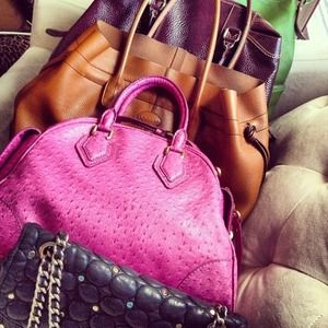 Pink Marc by Marc Jacobs Ostrich Handbag
