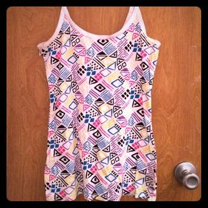 Large tribal print colorful tank top.