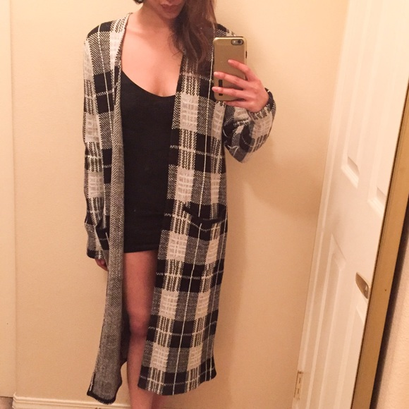 29% off Forever 21 Sweaters - RESERVED. Plaid Duster Cardigan ...