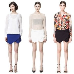 SALEZara Envelope Wrap Skort Bundle