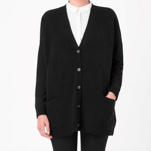 COS Sweaters - COS black wool oversized cardigan