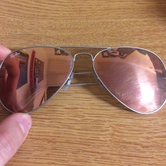 ray ban aviator miroir marron