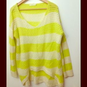 Lush Oversized Striped Knit Sweater M/L