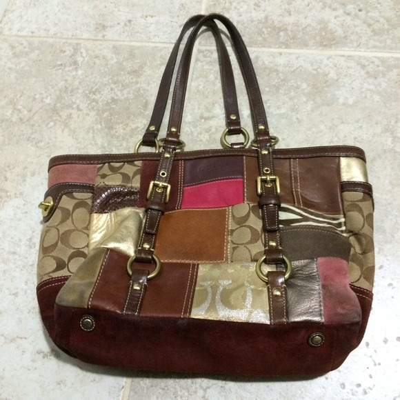 94% off Coach Handbags - Coach 10437 patchwork burgundy ...