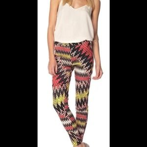 French Connection Zig Zag Skinny Pants 0