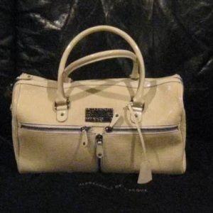 Alessandro Dell'Acqua Handbags - Alessandro Dell'Acqua Cream - Retail over $2K