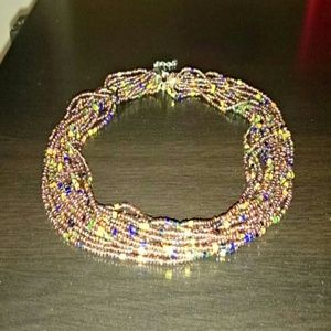 Multicolored beads necklace