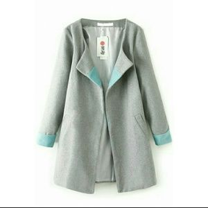Oasap Jackets & Blazers - NWT Grey Coat