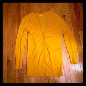 J. Crew Yellow Cardigan