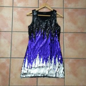 Sequin S Dress