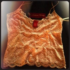 american exchange Tops - Gorgeous Gold Lace Cami NWT SZ Large