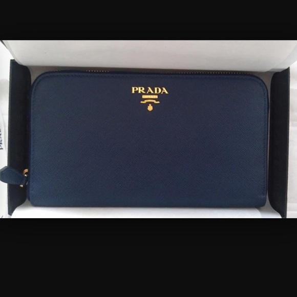 034ca6d1098588 29% off Prada Clutches \u0026amp; Wallets - Prada Saffiano Leather Zip .