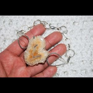 handmade &handcrafted gemstone jewelry Jewelry - Solar Stalactite Statement Bracelet