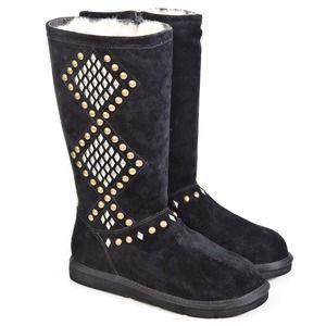 cd8cd27869c Black Studded Tall Sheepskin Ugg Boots