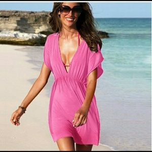 Beach cover-up Dress in pink!