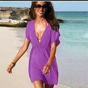 Beach cover-up Dress. Violet!