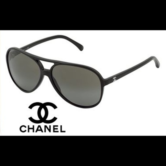 15487e60ef6 CHANEL Accessories -  ON HOLD Chanel Black Aviator Polarized Sunglasses
