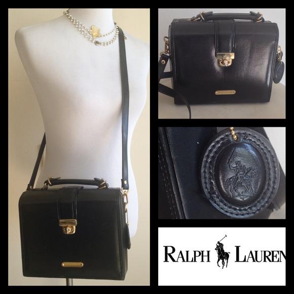 540649fb28 Vintage Ralph Lauren Leather Cross body Box purse.  M 54ca97165a49d0547d004365