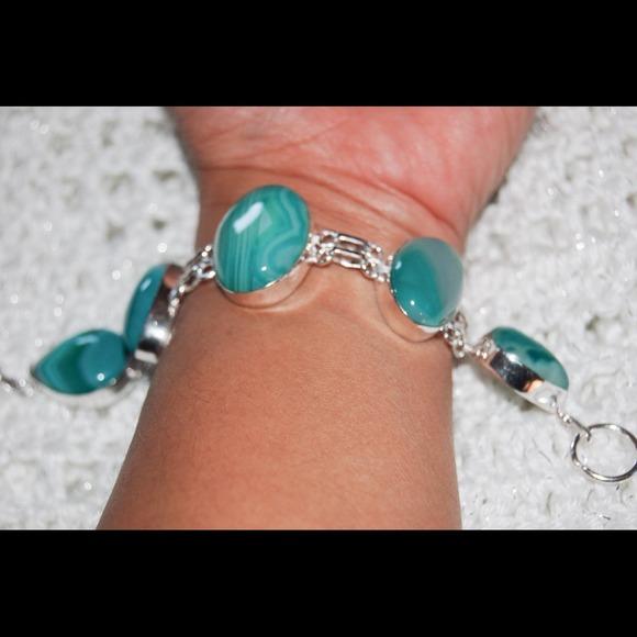 handmade & handcrafted gemstone jewelry Jewelry - ✂️💥SALE💥✂️Green Lace Onyx Bracelet One Size