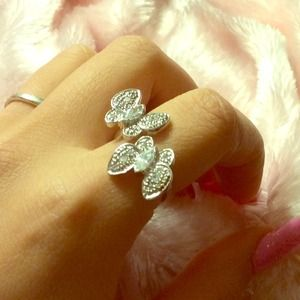 Jewelry - Sterling silver double ended butterfly ring