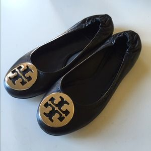 Tory Burch Nappa Leather Classic Reva Ballet Flats