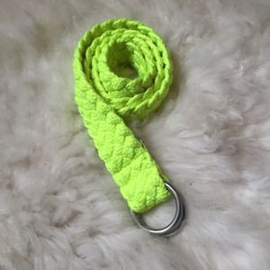 Free People Accessories - Neon Yellow Woven Nautical Belt