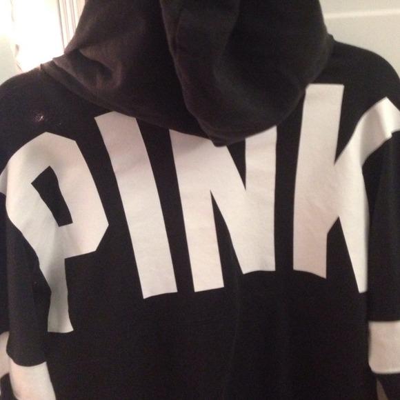 PINK Victoria's Secret - black PINK hoodie & white pink hoodie ...