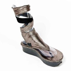 Modzori Shoes Reversible Snake Print Sandals With Pocket