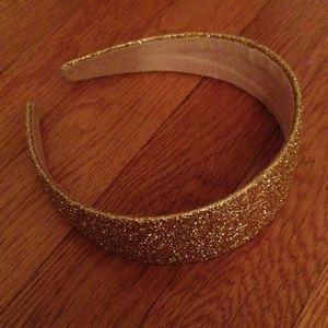 Gold sparkly headband