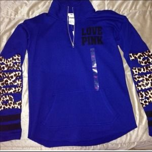 70% off PINK Victoria's Secret Sweaters - blue Victoria secret ...