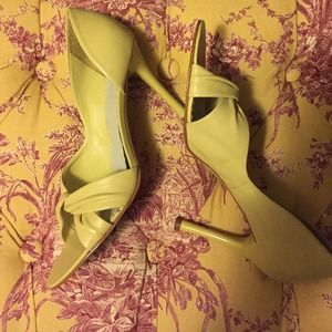BCBGirls Shoes - BCBGirls lime yellow d'orsay