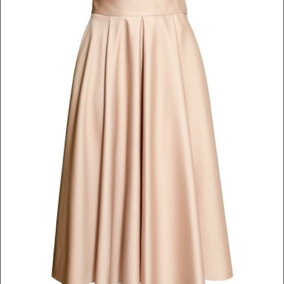 42 h m dresses skirts h m wide cut skirt in pink