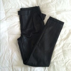 Zara Pants - Black Faux Leather Pants (NWT!!!)
