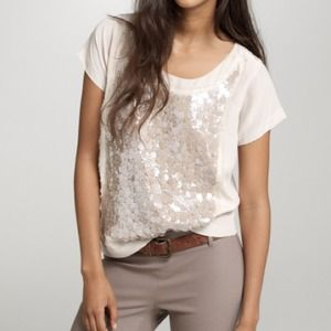 J. Crew Tops - J Crew Silk and Sequin Tee